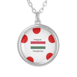 Ungarn-Sprache und Flaggen-Entwurf Versilberte Kette