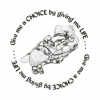 Ungeborenes Baby: Geben Sie mir eine Wahl, indem Freistehende Fotoskulptur