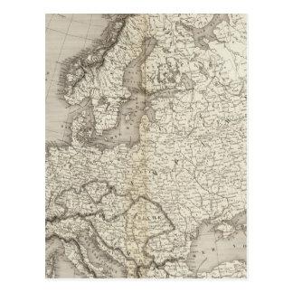 Ungefärbte Karte Europas
