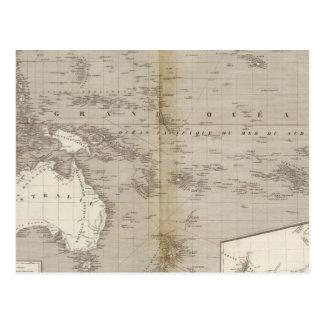 Ungefärbte Karte Ozeaniens