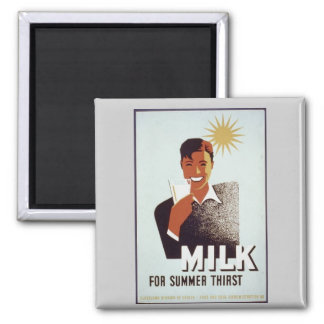 Ungekochte Milch Geschenke und T - Shirts Quadratischer Magnet