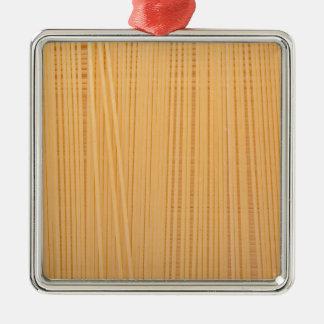 Ungekochte Spaghettis Silbernes Ornament