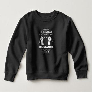 Ungerechtigkeits-Kleinkind-Dunkelheits-Sweatshirt Sweatshirt
