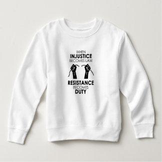 Ungerechtigkeits-Kleinkind-Sweatshirt Sweatshirt
