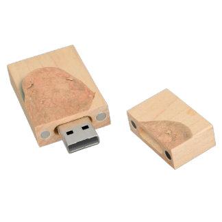 Ungeschälte rohe Kartoffel Holz USB Stick