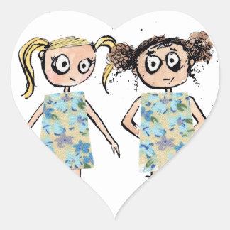 Ungeschickt - wie, wenn Sie das gleiche Kleid… Herz-Aufkleber