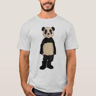 Ungeschickter Panda-Rauten-T - Shirt