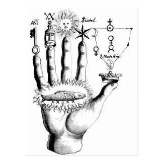 Ungewöhnliche Handsun-Alchimie Steampunk Postkarte