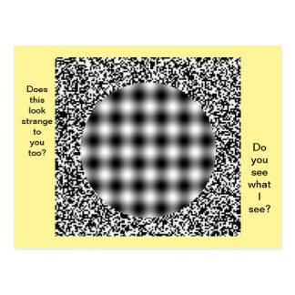 Ungewöhnliche, merkwürdige Täuschungs-Postkarte Postkarte