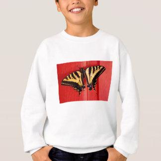 ungewöhnlicher Hintergrund-Frackschmetterling Sweatshirt