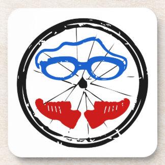 Ungewöhnliches Logo des Triathlon Untersetzer