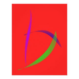 Ungezwungener Scarlet-abstrakte Kunst Custom Flyer