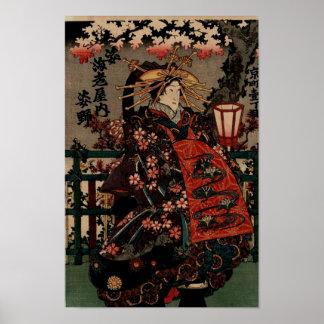 Unglaublich schönes japanisches Vintages Kunst-Pla Poster