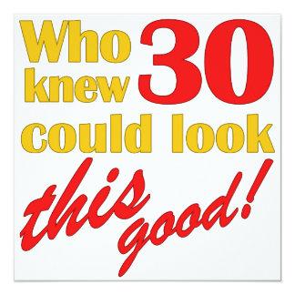 Unglaublich witzig 30. Geburtstags-Party Quadratische 13,3 Cm Einladungskarte