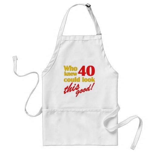 Unglaublich witzig 40. Geburtstags-Geschenke Schürzen