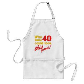 Unglaublich witzig 40. Geburtstags-Geschenke Schürze