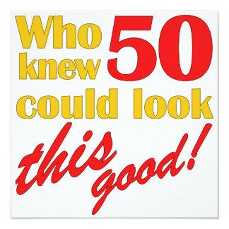 Unglaublich witzig 50. Geburtstags-Party Quadratische 13,3 Cm Einladungskarte