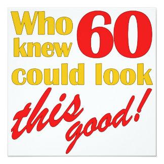 Unglaublich witzig 60. Geburtstags-Party Quadratische 13,3 Cm Einladungskarte
