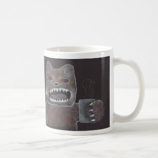 Unglaublich witzig grouchy Bär verlangt Kaffee Tasse