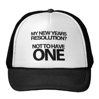 Unglaublich witzig neue Jahre Entschließungs-Kappe Netzmützen