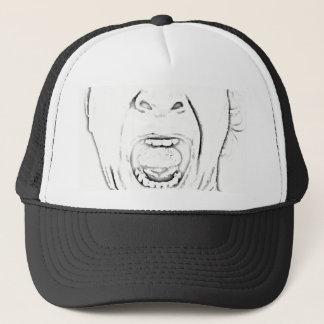 Unglaublich witzig schreiender Gesichts-Entwurf Truckerkappe