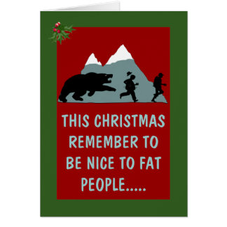 Unglaublich witzig Weihnachten Grußkarte