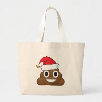 Unglaublich witzig Weihnachten kacken Emoji Jumbo Stoffbeutel
