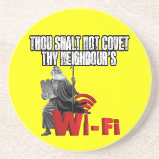 Unglaublich witzig Wi-Fi Getränkeuntersetzer
