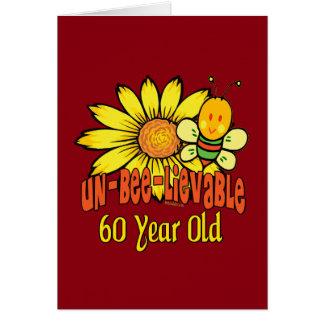 Unglaubliche 60. Geburtstags-Geschenke Karte
