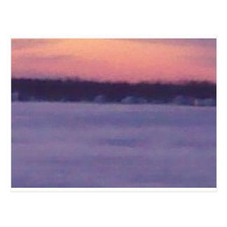 unglaubliche Schneefälle Postkarte