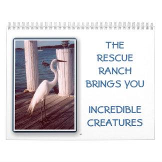 Unglaublicher Kalender des Geschöpf-2014