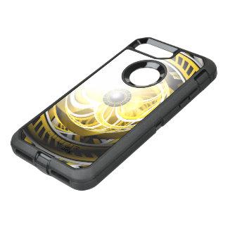 Unglaubliches Auge eines gelben Bau-Roboters OtterBox Defender iPhone 8 Plus/7 Plus Hülle