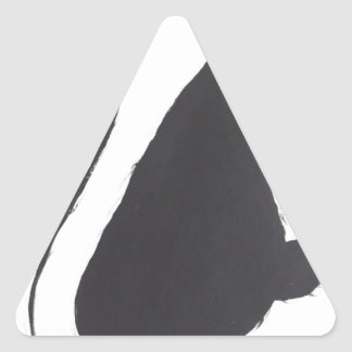 Unglückliche Katze Dreieckiger Aufkleber