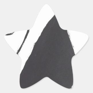 Unglückliche Katze Stern-Aufkleber
