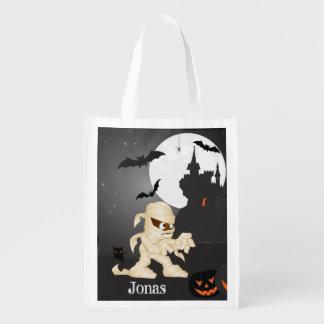 Unheimliche Nachthalloween-Szene mit Ihrem Namen Wiederverwendbare Einkaufstasche