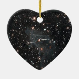 Unheimlicher Geist in Carina-Nebelfleck Keramik Herz-Ornament
