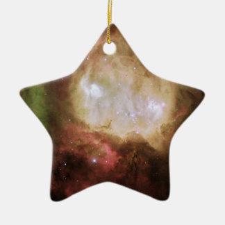 Unheimlicher Geist in Carina-Nebelfleck Keramik Stern-Ornament
