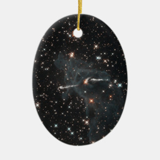 Unheimlicher Geist in Carina-Nebelfleck Ovales Keramik Ornament