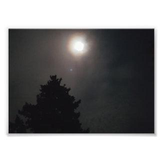 Unheimlicher Mond Fotodruck