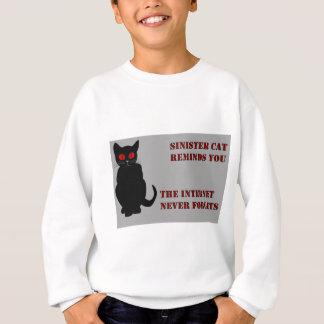 Unheimliches Katzen-Grau Sweatshirt