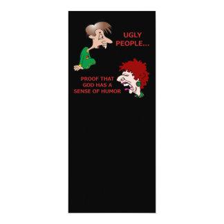 Unhöfliche aber lustige hässliche 10,2 x 23,5 cm einladungskarte