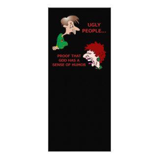Unhöfliche aber lustige hässliche personalisierte ankündigungskarte
