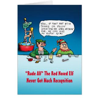 Unhöfliche Alf lustige Elf-Weihnachtskarte Karte