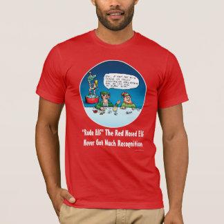 Unhöflicher Alf der rote gerochene Elf-lustige T-Shirt