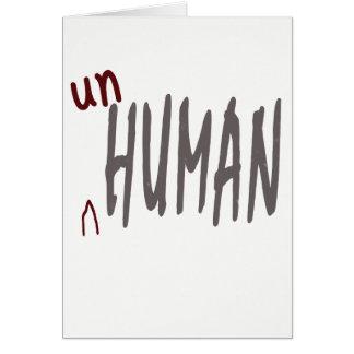 unhuman Karte