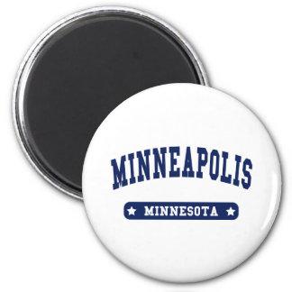 Uni-Artt-shirts Minneapolis Minnesota Runder Magnet 5,1 Cm