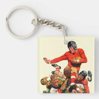 Uni-Fußball Beidseitiger Quadratischer Acryl Schlüsselanhänger