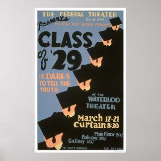 Uni graduiert 1937 WPA Plakatdruck