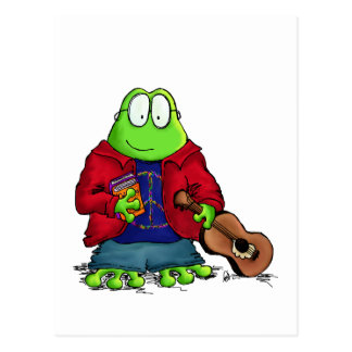 Uni-Studenten-Nerd-Frosch Postkarte