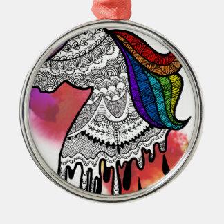 Unicolors Silbernes Ornament